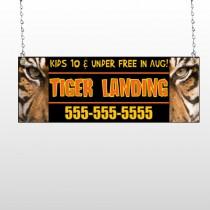 Tiger Landing 303 Window Sign