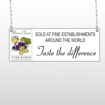 Wine 145 Wire Frame Sign