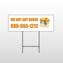 Animated House Family 251 Wire Frame Sign