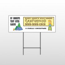 Campground 144 Wire Frame Sign