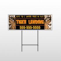 Tiger Landing 303 Wire Frame Sign