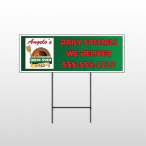 Pizza 129 Wire Frame Sign