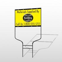 Small Black House 219 Round Rod Sign