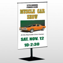 Muscle Car 124 Center Pole Banner Stand