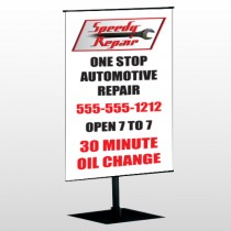 Auto Repair 38 Center Pole Banner Stand