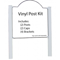 "Vinyl Post Kit with Brackets 4""x4""x96"" for 1/4"" Sign"
