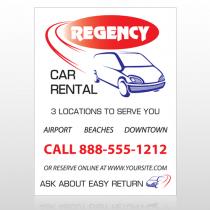 Rental Car 39 Custom Sign
