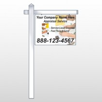 "Hand Planning 260 18""H x 24""W Swing Arm Sign"