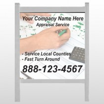 """Hand Planning 260 48""""W x 48""""H Site Sign"""