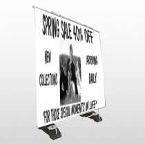 Married Couple 398 Exterior Pocket Banner Stand