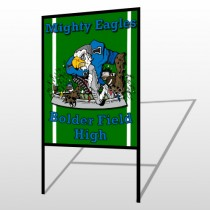 Green 56 H Frame Sign