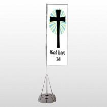 God Gave 118 Exterior Flag Banner Stand