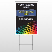 Rainbow Dots 143 Wire Frame Sign