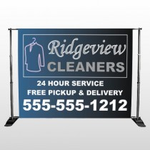 Dry Cleaners 24  Pocket Banner Stand