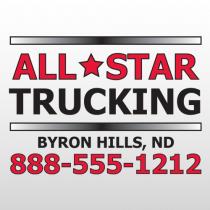 All Star 303 Truck Lettering
