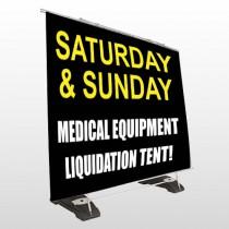 Medical Liquidators 98 Exterior Pocket Banner Stand