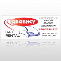 Rental Car 34 Custom Banner
