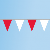 Pennant Red, White 60' String