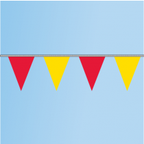 Pennant Red, Yellow 60' String