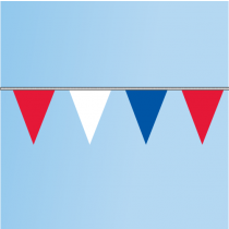 Pennant Red, White, Blue 60' String