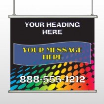 Rainbow Dots 143 Hanging Banner