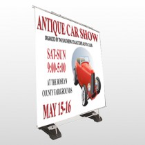 Car Show 123 Exterior Pocket Banner Stand