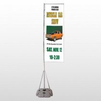 Muscle Car 124 Exterior Flag Banner Stand