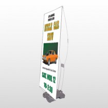 Muscle Car 124 Exterior Flex Banner Stand