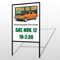 Muscle Car 124 H-Frame Sign