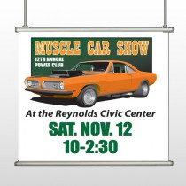 Muscle Car 124 Hanging Banner