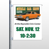 Muscle Car 124 Pole Banner