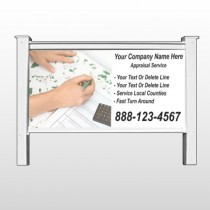 """Hand Planning 260 48""""H x 96""""W Site Sign"""