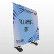Blue Dots 145 Exterior Pocket Banner Stand