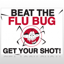 Flu Shot 10 Custom Sign