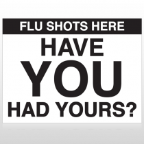 Flu Shot 3 Custom Sign
