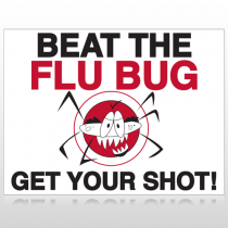 Flu Shot 9 Custom Sign