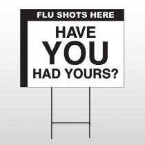Flu Shot 1 Wire Frame Sign