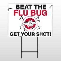 Flu Shot 10 Wire Frame Sign