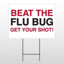 Flu Shot 14 Wire Frame Sign