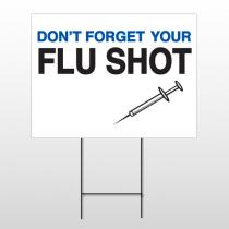 Flu Shot 15 Wire Frame Sign