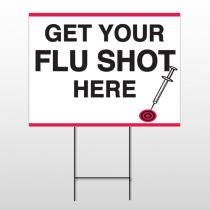 Flu Shot 16 Wire Frame Sign