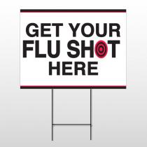 Flu Shot 17 Wire Frame Sign