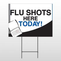 Flu Shot 18 Wire Frame Sign
