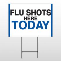 Flu Shot 19 Wire Frame Sign