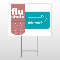 Flu Shot 20 Wire Frame Sign