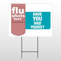 Flu Shot 21 Wire Frame Sign