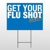 Flu Shot 22 Wire Frame Sign