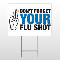 Flu Shot 23 Wire Frame Sign