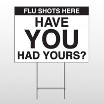 Flu Shot 3 Wire Frame Sign