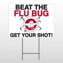 Flu Shot 9 Wire Frame Sign